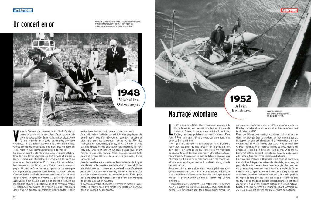 triple médaille olympique pour Micheline Ostermeyer aux Jeux de Londres 1948 / la folle traversée d'Alain Bombard en 1952