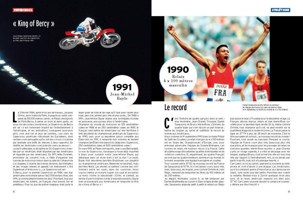 les exploits de JMB Jean Michel Bayle en Super Cross / Le record du monde du 4x100m fut français en 1990 !