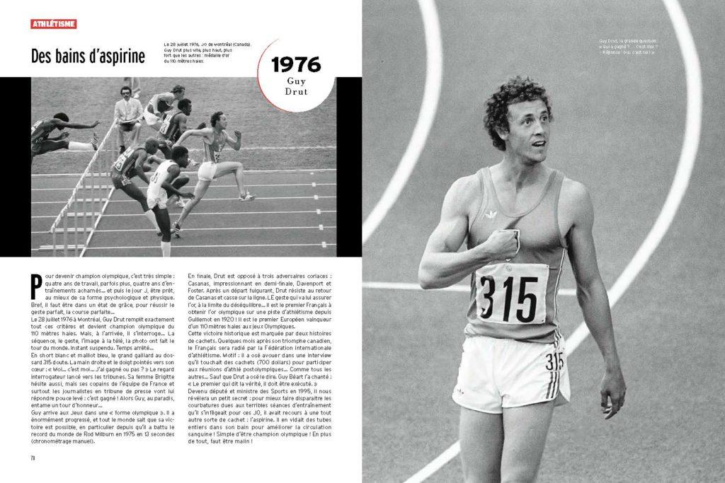 Guy Drut dubitatif en 1976, il ne sait pas s'il a gagné le titre sur le 110m haies !