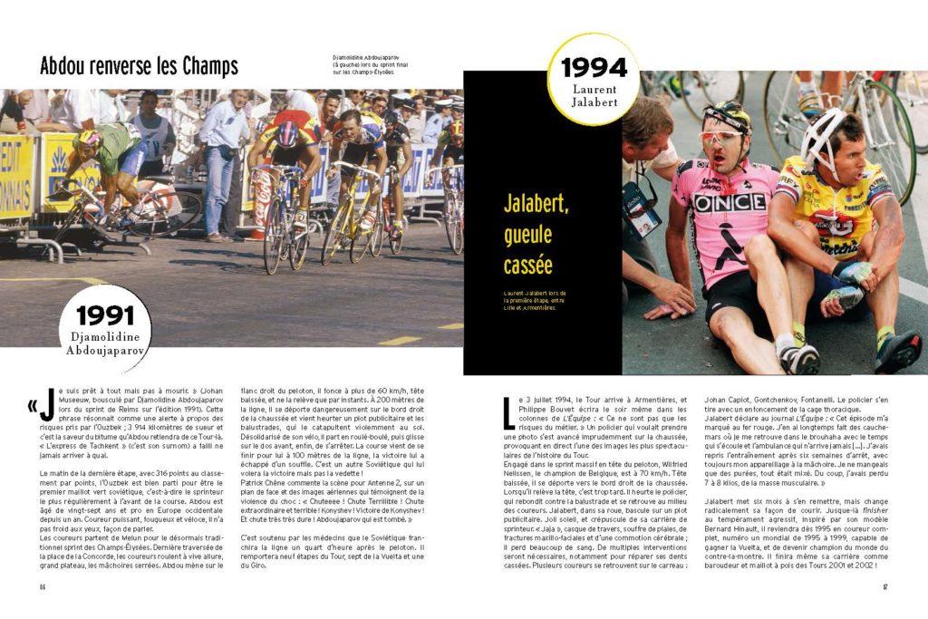 1994 Chute spectaculaire de Laurent Jalabert et sévères traumatismes faciaux