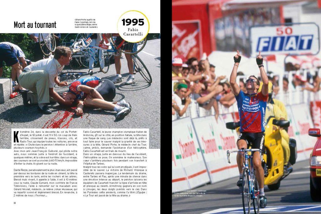 1995 Chute et mort de Fabio Casartelli, victoire de Virenque et hommage de Lance Armstrong