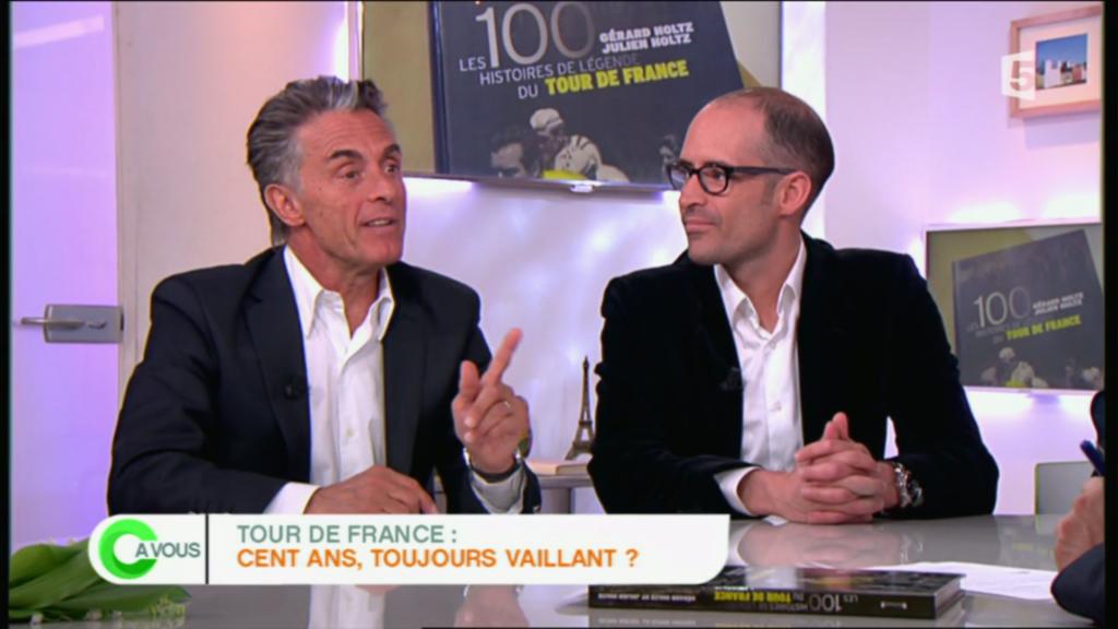 Gérard Holtz et Julien Holtz invités par C A VOUS (France 5) à l'occasion de la 100ème édition du Tour de France (2013)