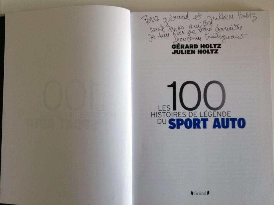 Le mot touchant de Jean-Louis Trintignant à Gérard et Julien Holtz, les auteurs des 100 Histoires de Légende du Sport Auto