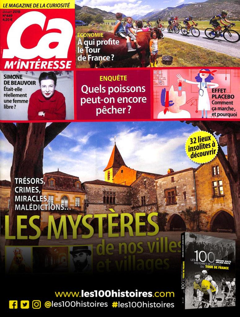 Couverture magazine Ça M'intéresse de Juillet 2018 avec un dossier spécial Tour de France