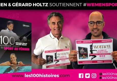 Engagement féministe : Julien et Gérard Holtz co-auteurs des 100 Histoires de Légende du Sport au Féminin soutiennent #WeMenSports