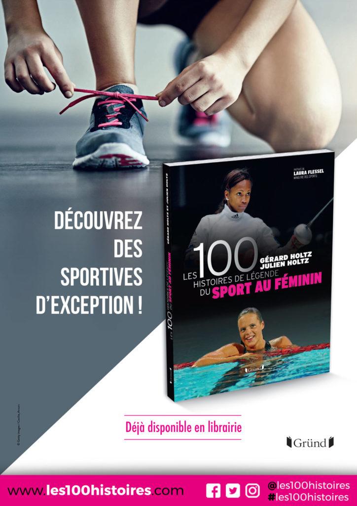 Publicité pour les 100 Histoires de Légende du Sport au Féminin insérée dans le Hors Série de Télé Poche