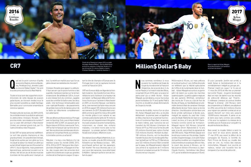 Attaquants de légende : à gauche Cristiano Ronaldo, à droite Kilian Mbappé
