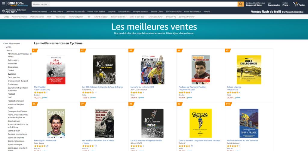 Les 100 Histoires de Légende du Tour de France et du Vélo dans le top 10 des meilleures ventes
