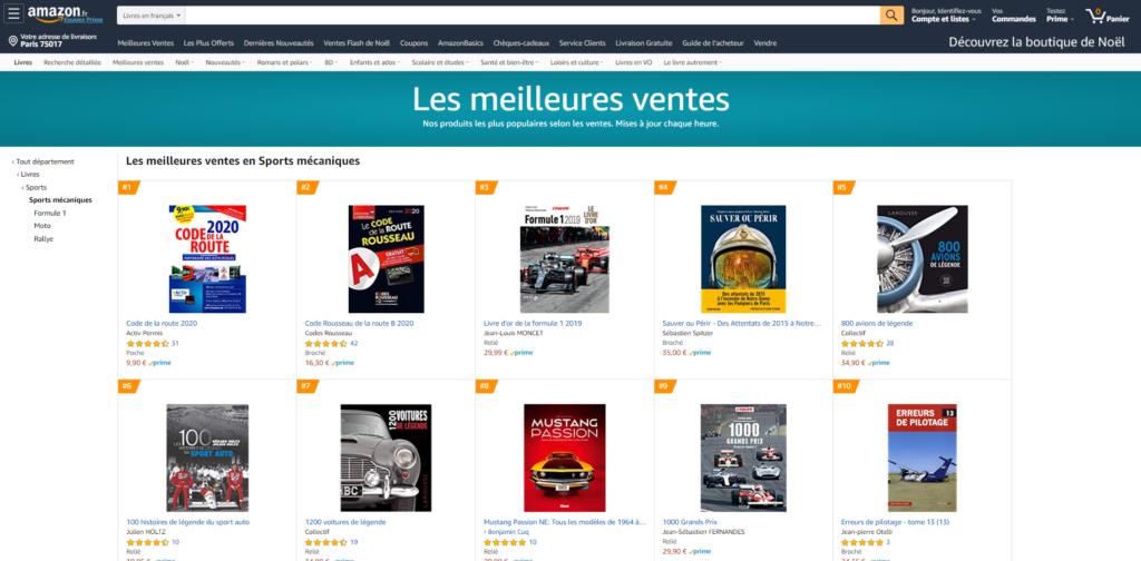 Les 100 Histoires de Légende du Sport Auto dans le top 10 des meilleures ventes
