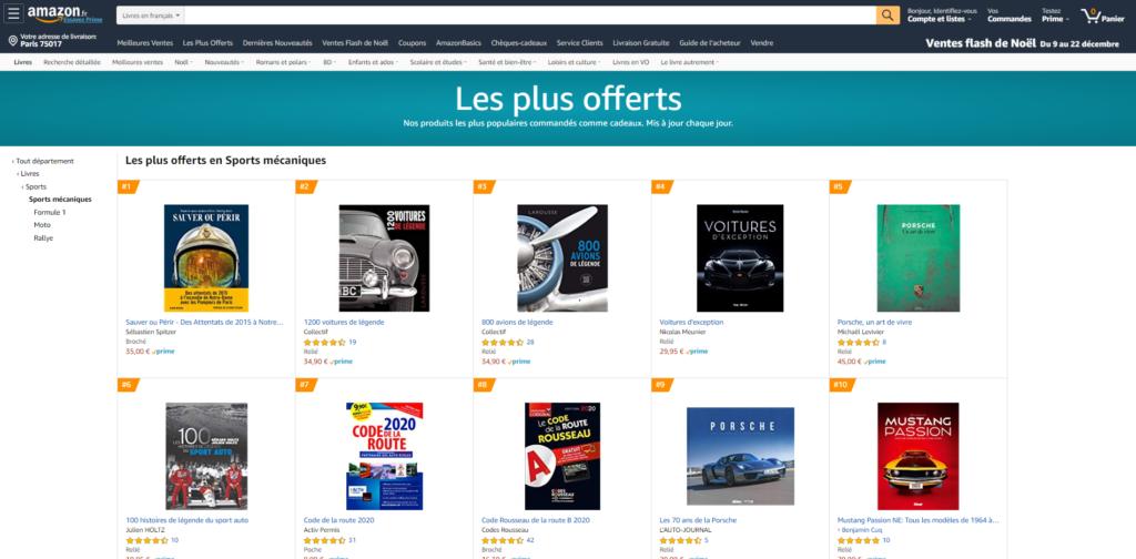 Les 100 Histoires de Légende du Sport Auto dans le top 10 du classement des livres les plus offerts