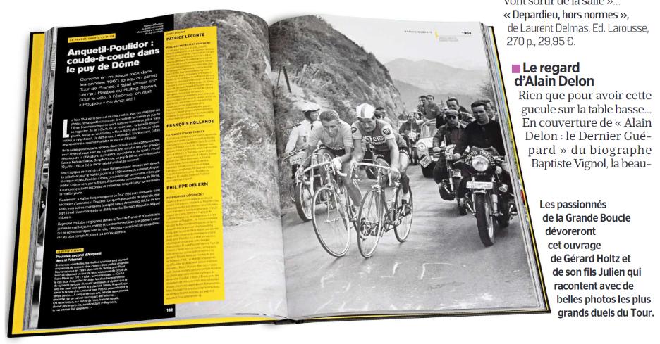 Le Parisien sélectionne le coude-à-coude Anquetil Poulidor au Puy de Dôme